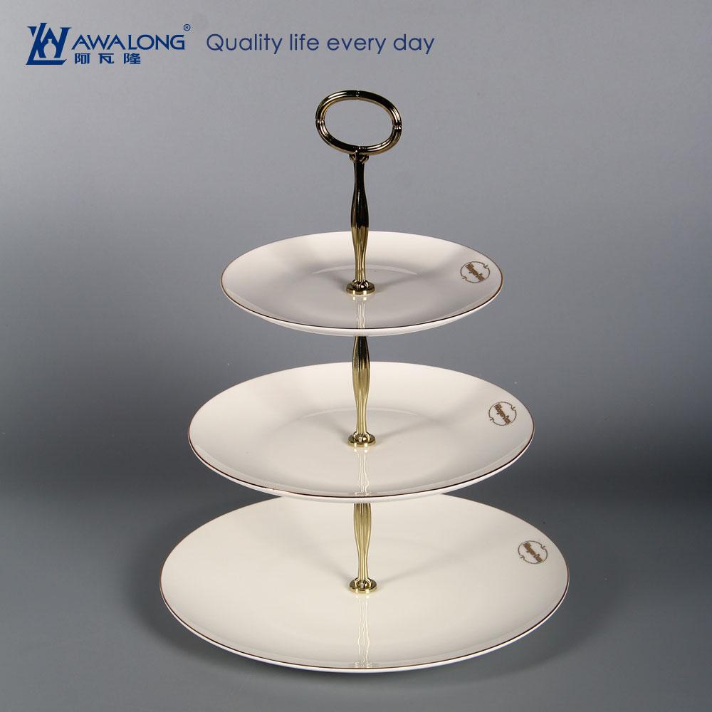 Awesome Flat White Fine Bone China Cake Stand Custom Logo Fine Porcelain Birthday Cards Printable Trancafe Filternl