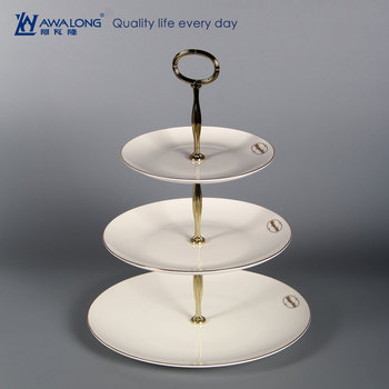 flat white fine bone china cake stand custom logo / fine porcelain birthday cake plate stand : white cake plate stand - pezcame.com
