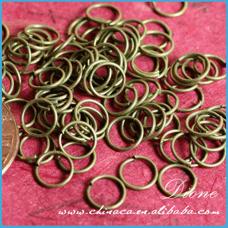 gold/silver 7mm jump rings 2mm wires aluminum jump rings for making jewelry