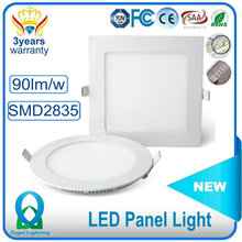 Hot sale wholesale SMD2835 slim ultra thin flat wall square round 3w 6w 9w 12w 15w 18w ceiling led panel light