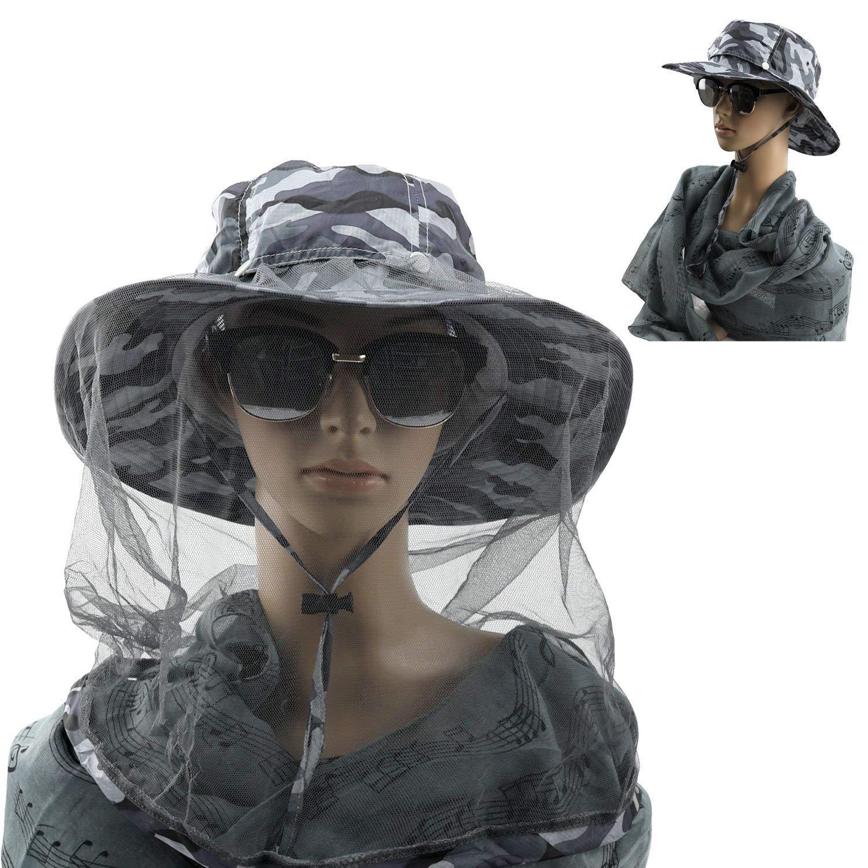 1630fc3986829 Get Quotations · ESport Unsex Sun Hat with Hidden Mosquito Net Caps