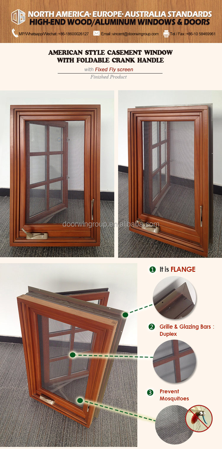 American NAMI Certified Casement Window Company Aluminum Clad Hard Wood Triple Pane Glasses Casement Window with  sc 1 st  Alibaba : nami exterior doors - pezcame.com