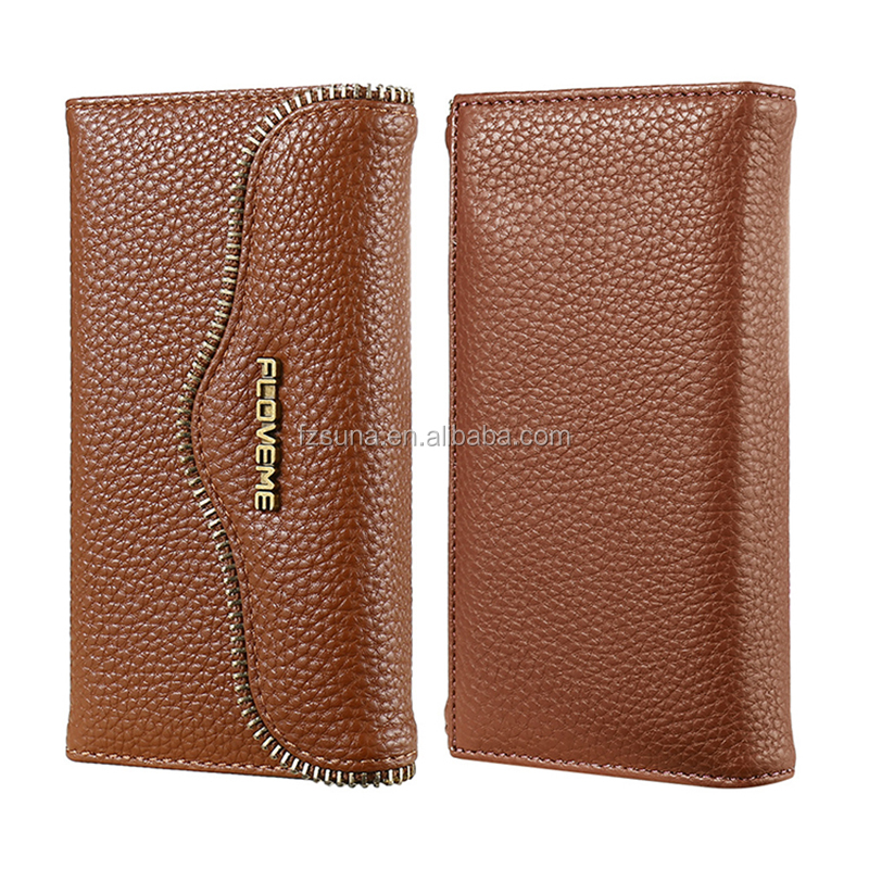 Good Price For Newest FLOVEME FLOVEME Brand For IPhone 6/7 Leather Wallet Phone Case