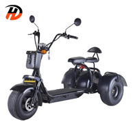 2020 best seller 1500W 3 wheel electric scooter 3 wheel electric bicycle