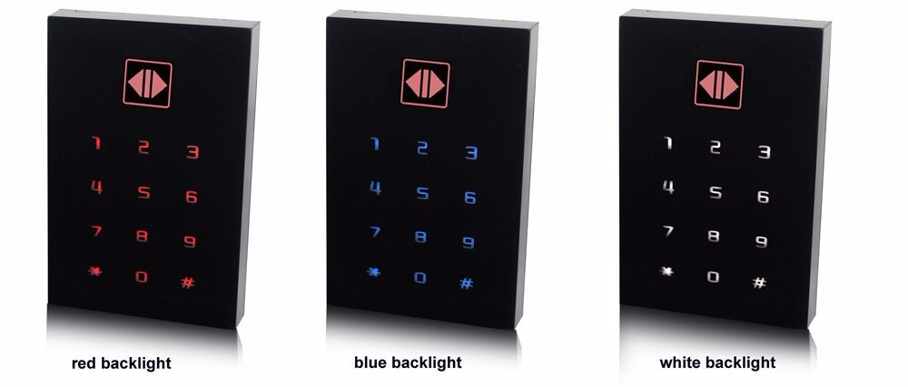 waterproof touch keypad passwords unlock standalone small access control gate intercom systems door readers