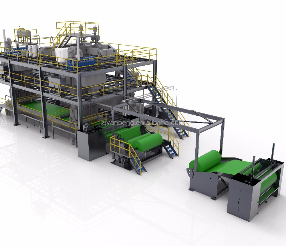 double beam PP spunbond non woven making machine with high quality