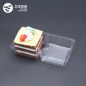 PET Plastic Food Packaging Container Transparent Cake Blister Tray