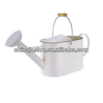 Large Decorated Aluminum Watering Can With Lid