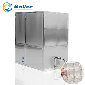 Transparent 1 ton ice cube machine for drinking with packing system (CV1000)