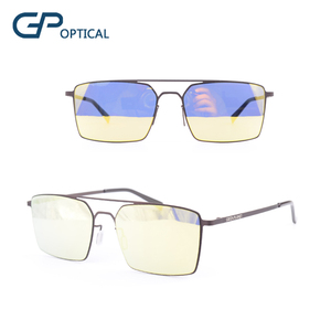GP8091 2018 new custom logo polarized lens stainless steel glasses metal designer sunglasses