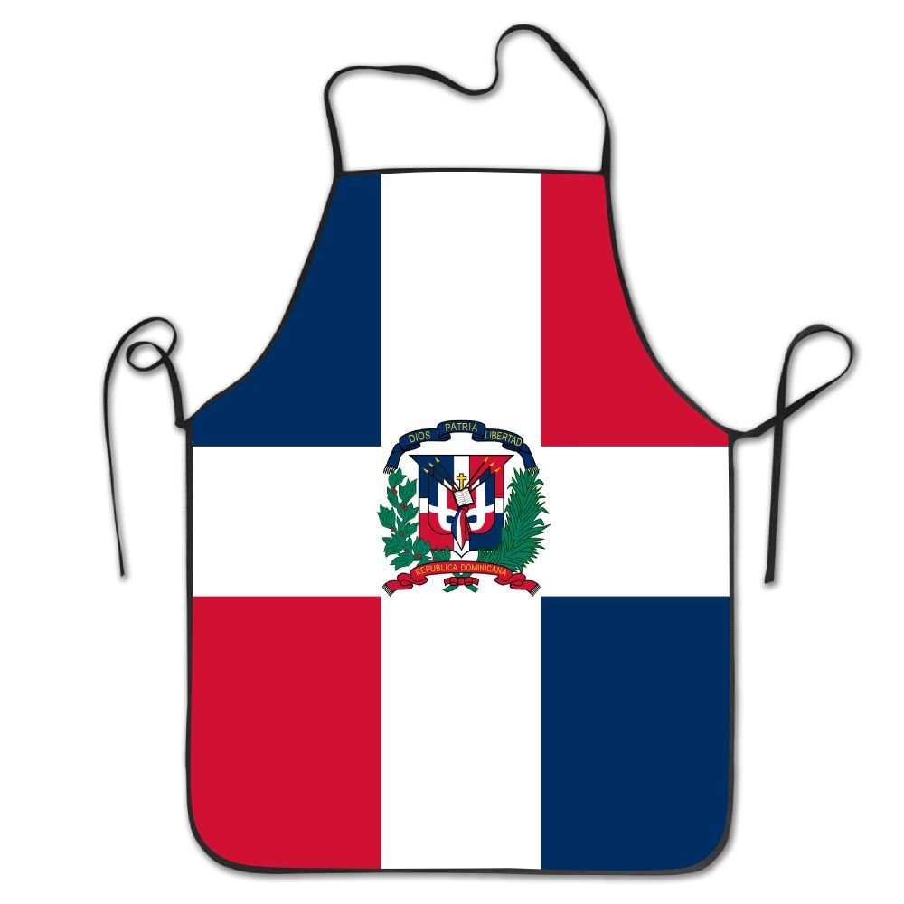 Dominican Republic Flag Kitchen Cooking Apron For Women And Men - Adjustable Neck Strap - Restaurant Home Kitchen Apron Bib For Cooking, Grill And Baking, Crafting, Gardening, BBQ
