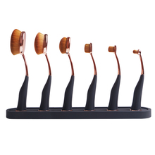 Top kwaliteit patent ontwerp 6 pcs magnetische <span class=keywords><strong>professionele</strong></span> <span class=keywords><strong>make-up</strong></span> borstel set foundation brush <span class=keywords><strong>make-up</strong></span> borstel kit met houder