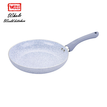 Marble coating kitchenware wholesale fry pan set with Bakelite soft handle