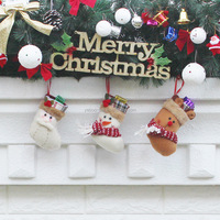 Christmas Decoration Stocking Santa Claus Socks Christmas Tree Ornament