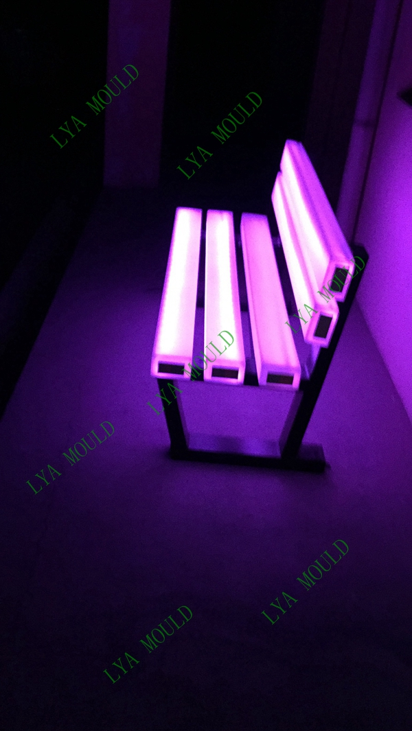 Led Light Bench : Outdoor plastic led bar chair garden bench cheap price