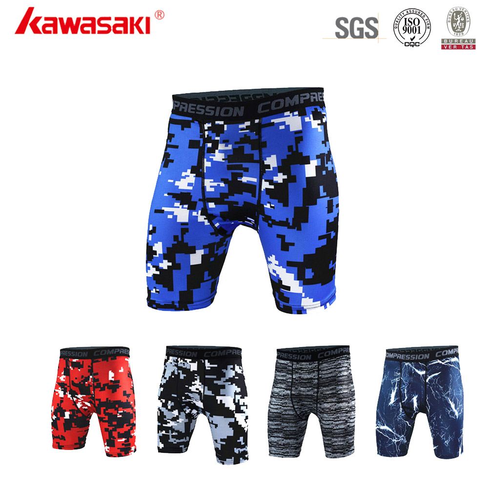 Wholesale Cheap Men Custom Compression Shorts with Four Needle Six Lines