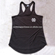 Mens custom cvc dark grey with printed logo and custom labels curved bottom sports stringer gym vests
