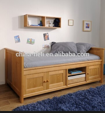 moderna in legno super letto singolo con cassetti sotto-Letto in ...