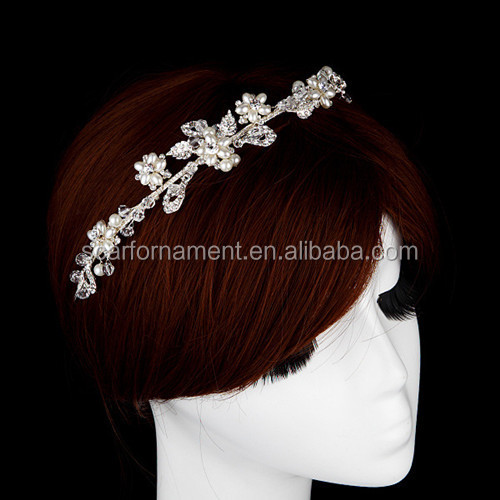 Rani Haar Pearl Crystal Beaded Wedding Jewelry Designs Laurel Wreath
