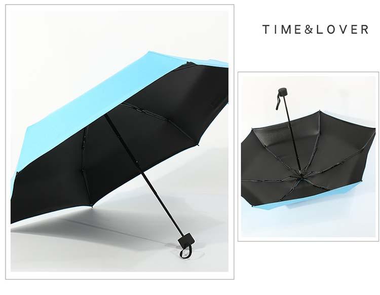 Barato pequeño sol protección dama mini Bolsillo pequeño 5 paraguas plegable