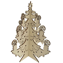 House decor creative laser cut christmas tree wooden