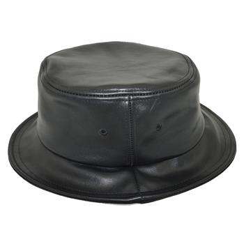 ede3b82bf62 Short Brim Designer Wholesale Black Leather Blank Bucket Hat - Buy ...