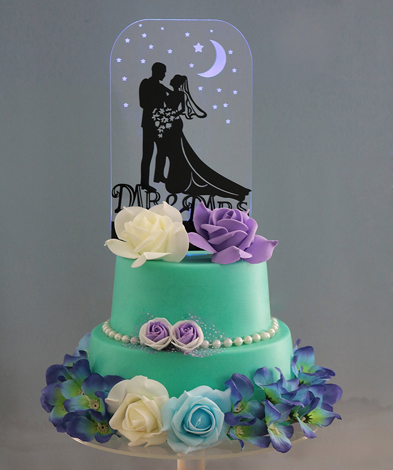 Shinybeauty Wedding Cake Topper Custom With Led Light