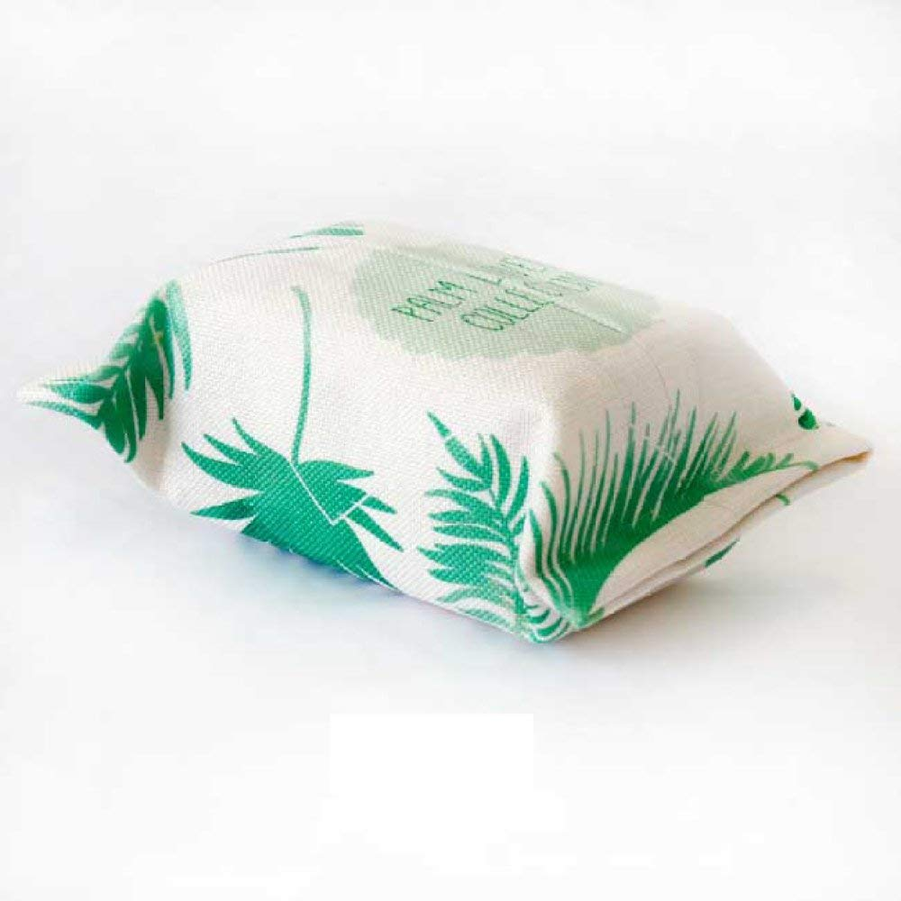 MKKM Rainforest Tissue Box Plant Living Room Paper Set Green Leaf Napkins Paper Towel Paper Towel Box Cotton Cloth