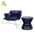 All weather leisure 5 star hotel stainless steel outdoor garden line plastic pvc woven rope chair