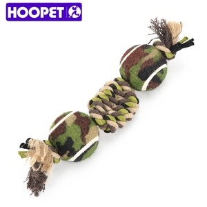 Hangzhou Pet Products Double Tennis Hemp Rope Dog Toys Chew