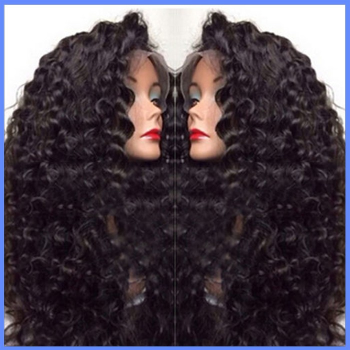 Natural hairline 6A Remy Human Hair Malaysian Deep Wave Lace Front wig Full Lace Wigs
