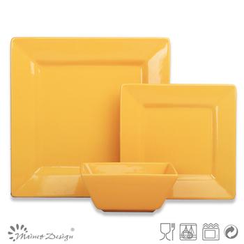 Set/18pcs square shape yellow color Dinnerware Set/ceramic dinnerware set  sc 1 st  Alibaba & Set/18pcs Square Shape Yellow Color Dinnerware Set/ceramic ...