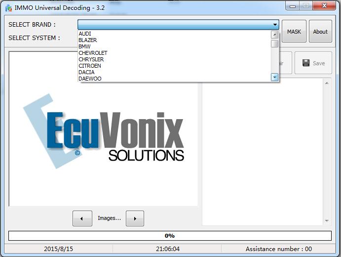 Ecuvonix 3,2 иммо universal декодирования 3,2 удалить IMMO код ECU по e-mail