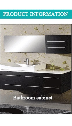 High end elegant granite top matt cherry white finishing bathroom vanity