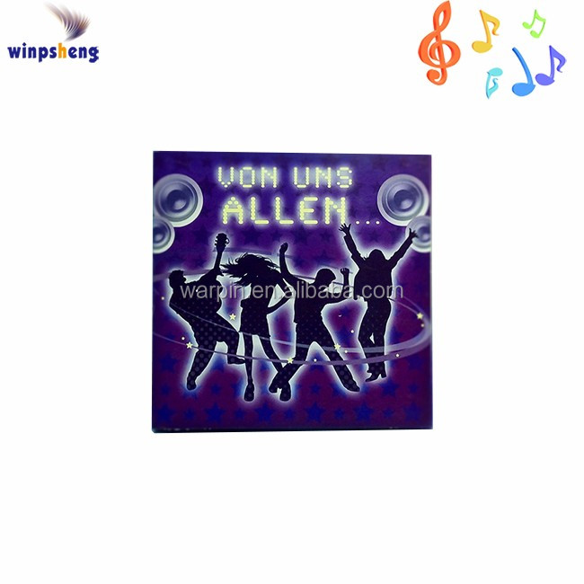 Product Name Funny Custom Music Happy Birthday Card