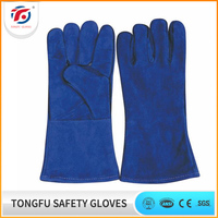 China manufacturer China Wholesale CE patched palm cow split leather buyer weilding working gloves