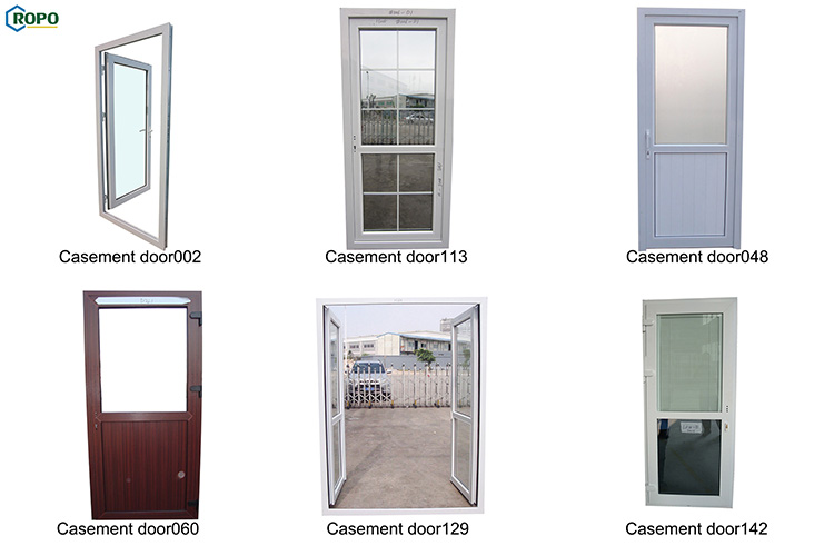 CE White UPVC Frame Interior Frost Glass French Door