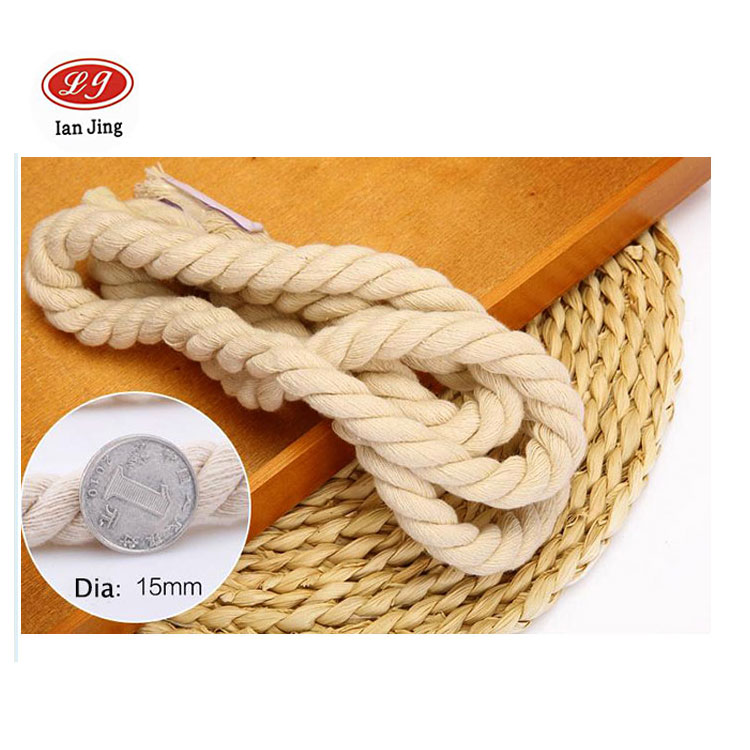 Durable Soft Braided 8MM 10MM 12MM 20 MM Cotton Rope For Macrame Crafts hangbag