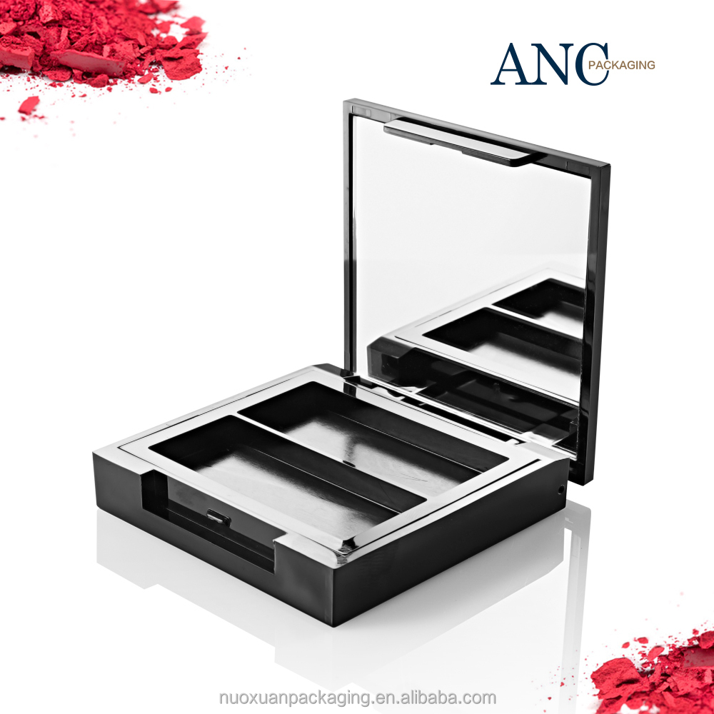 ANC high quality 2 colors empty eye shadow & blush container with mirror