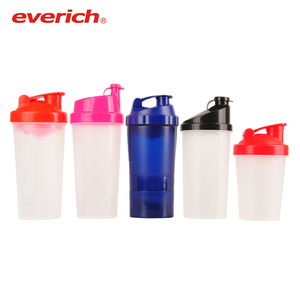 Different color custom design everich protien shaker bottles plastic water cups