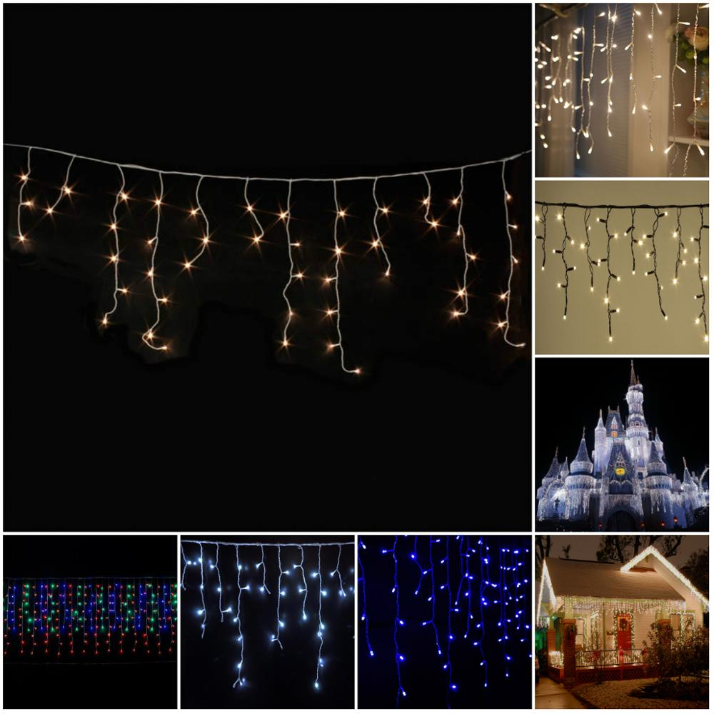 Blue LED Icicle Christmas Lights Outdoor Extra Long Holiday Lighting