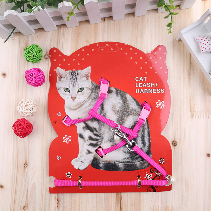 RoblionPet colorful nylon cat harness servizio All'aperto Forniture per Animali Da Compagnia di sicurezza morbido tipo di estensione decorare pettorali