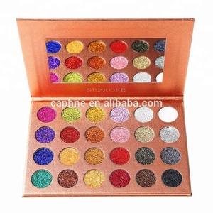 FDA approved Paper Box SEPROFE 24 color rose gold glitter powder eye shadow palette