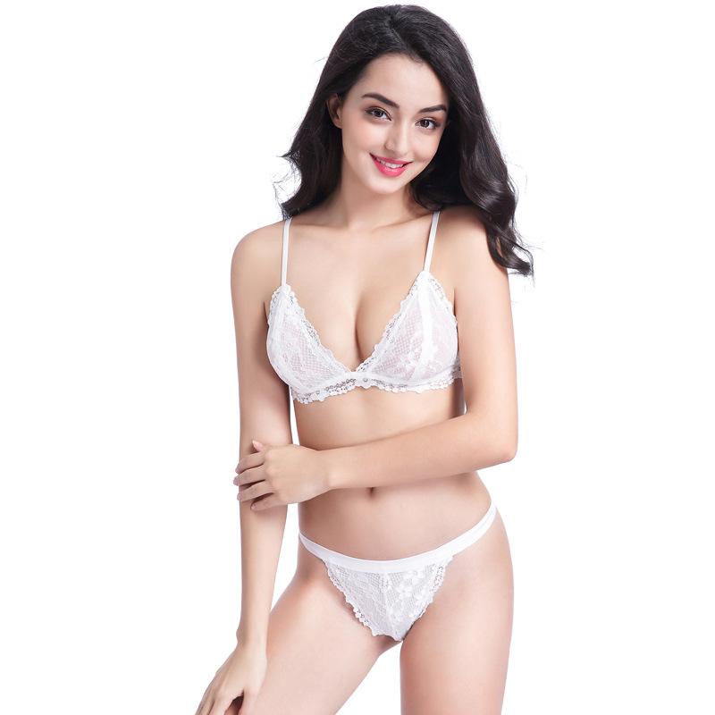 472c82db5 Women Mature Soft Fancy Bra And Panties Transparent Lace Panty Set ...