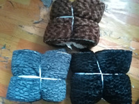 Print PV Fleece +Sherpa Material and Printed Pattern dairy cow print fleece blanket