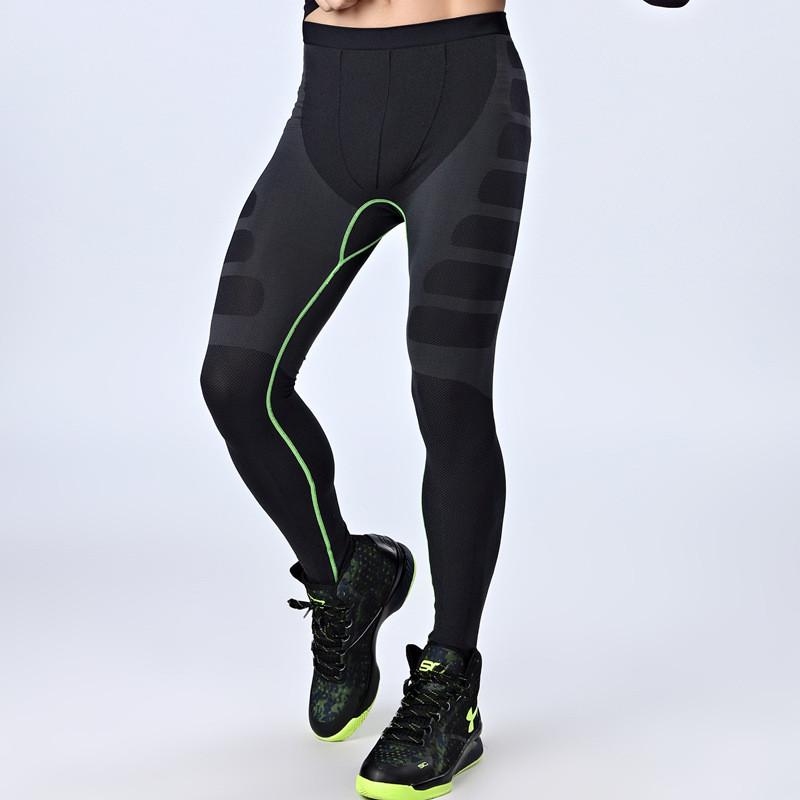 Hot sale! Men's gym long leggings, gym tights, lycra compression tights