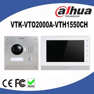 Dahua video intercom 7 Inch IP Kit dahua video intercom 7 inch ip kit vtk vto2000a vth1550ch 2 door  at bayanpartner.co