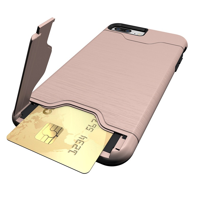 Mobile acessories cases card slot pc case cover for iphone 6 6s