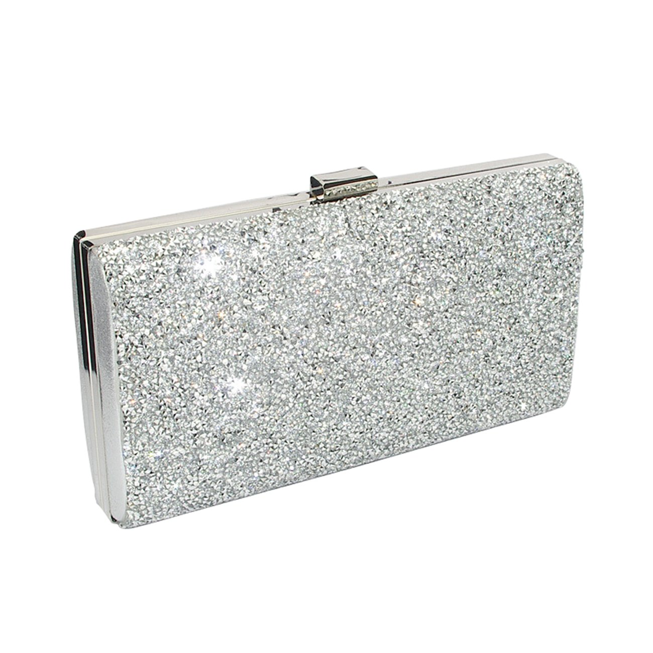 Clutch Evening Bag, Fit & Wit Giltter Beaded Flap Clutch Evening Handbag Purse
