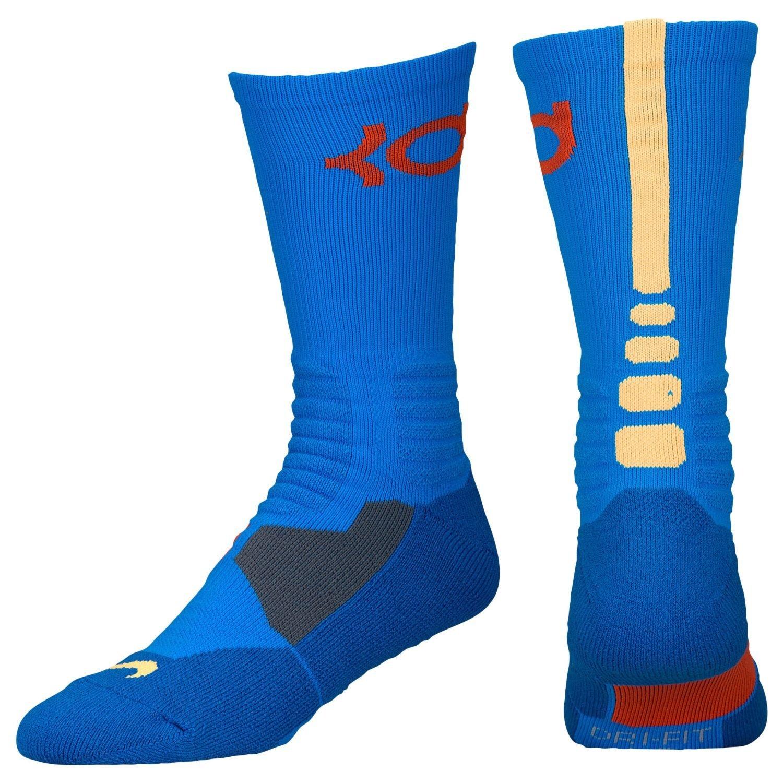 145dd4b1e7fc Nike Men s KD Hyper Elite Basketball Crew Socks Large (8-12) Photo Blue